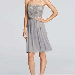 GOLD David's Bridal Lace Dress